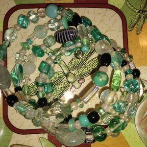 Bracelet beaded wrap around handmade